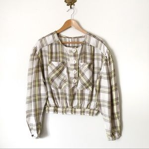 Free People It's The Good Life Plaid crop top